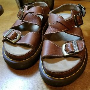 Dr. Marten Genuine Leather Platform Sandals NWOT